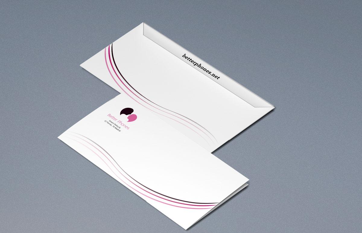 Better Phones paper diseño sobre