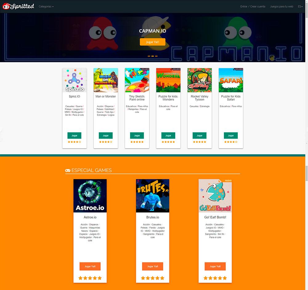 Diseño de la web Spritted